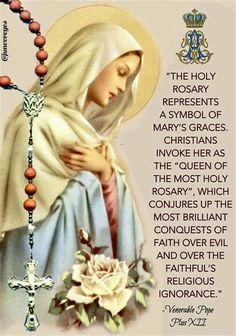 Praying The Rosary Catholic, Rosary Prayer, Holy Rosary, Catholic Prayers, Roman Catholic, Fatima Prayer, Rosary Quotes, Catholic Quotes, Catholic Religion