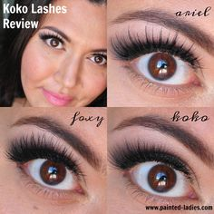 Koko Lashes Review Painted Ladies