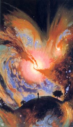 This reminded me of all of us when we are creating in the world. Love and Light Star Maker...by Les Edwards