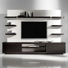 Modern tv wall unit flat screen mount living room projects to try wall decor wall design . Contemporary Tv Units, Modern Tv Wall Units, Post Contemporary, Tv Wanddekor, Living Room Wall Designs, Modern Tv Cabinet, Tv Stand Designs, Tv Wall Decor, Diy Wall
