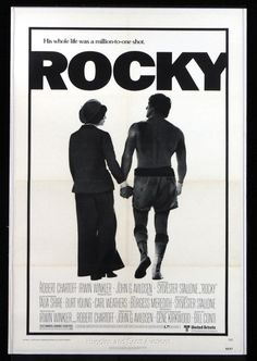 Movie Posters Original | 1976 Rocky Original 27x41 One Sheet Linen Backed Movie Poster