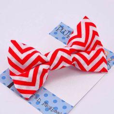 chevron bow tie - Pluff Bows Chevron Bow, Fabric Bows, Boutique Bows, Bow Ties, Hair Bows, Hairbows, Bowties, Hair Ornaments, Hair Bow