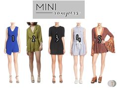 The season's cutest mini rompers for a fresh and effortless look. www.theteelieblog.com #TeelieBlog