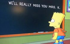 Simpsons' sweet tribute to the passing of Mrs. Krabappel