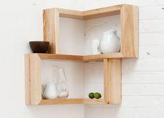 Image of: Cubes Corner Shelves Wall Mount