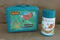 The Lion King Aladdin Lunchbox and Thermos plastic vintage 1992 Disney Pumbaa Disney Toys, Aladdin, Lunch Box, Room Ideas, Characters, Plastic, King, Cool Stuff, Vintage