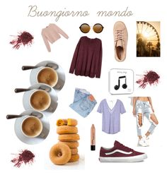 """""""GoodMorning😃"""" by mrsannad on Polyvore featuring Levi's, Victoria's Secret, Max&Co. e Vans"""