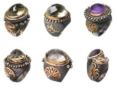 Nilufer Trazi Kuran Rings  Inspired by Ottoman (Turkish) Jewelry..