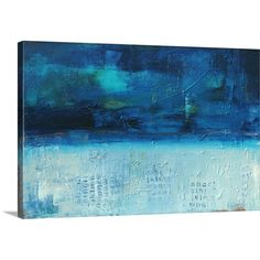 Found it at Wayfair - Backlash Blues by Erin Ashley Painting Print on Canvas