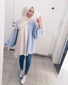 Ideas fashion hijab summer outfit ideas for 2019 4 Modern Hijab Fashion, Street Hijab Fashion, Islamic Fashion, Muslim Fashion, Modest Fashion, Fashion Outfits, Hijab Casual, Hijab Chic, Modest Wear