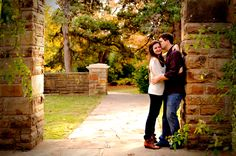 fort worth botanical gardens engagement photos   Meagan and Jeff's Engagement Portrait Session in Fort Worth and Dallas