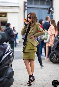 Christine Centenera, Vogue Australia fashion director, after Dior couture show. Follow me on Instagram @styledumonde, Pinterest, Twitter, Tumblr and Facebook