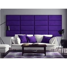 Vant Upholstered Wall Panels (Headboards) Sets of 4 - Micro Suede Grape - 30 Inch - Full-Queen.