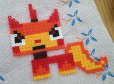 Unikitty (evil) from The Lego Movie hama perler beads by Nicky Pybus
