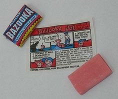 Chewing gum with a story .... Bazooka - sweets of the 80s