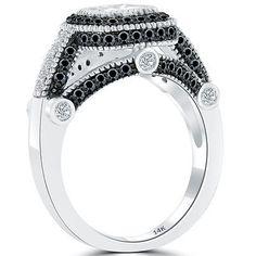 2.25 Carat E-SI1 Cushion Cut Diamond Engagement Ring 14k Gold Vintage Style