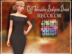 Baxuz's zzorannaa Off Shoulder Bodycon DressRecolor - mesh needed