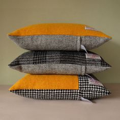 Harris Tweed cushions by Memnia McWilliams- available at www.memniamcwilliams.etsy.com