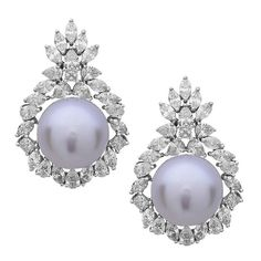 Gorgeous South Sea Pearl Diamond Gold Dangle Earrings 1 #GoldJewelleryFormal