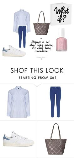 """""""Blue, White and Black for a casual Monday work look"""" by shycoygirl65 on Polyvore featuring Jette, Escada Sport, adidas, Vera Bradley and Essie"""