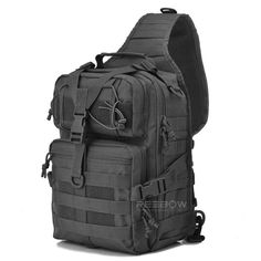 """Universe of goods - Buy Tactical Assault Pack Military Sling Backpack Army Molle Waterproof EDC Rucksack Bag for Outdoor Hiking Camping Hunting"""" for only USD. Molle Rucksack, Molle Bag, Camping Rucksack, Camping Gear, Edc Backpack, Edc Bag, Shoulder Backpack, Shoulder Sling, Camping Equipment"""