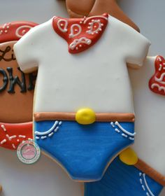 Image of Cowboy Baby Shower cookies (12 Cookies)