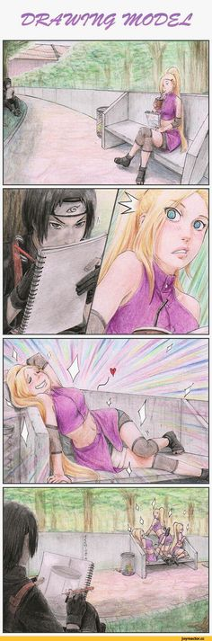 """Naruto Shippuuden """"He wasn't drawing her he was drawing the trash can, she should of ask What he's drawing of !?"""""""