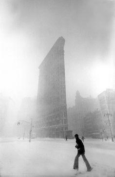 Ken Van Sickle | Flatiron Snow | 1966 | Black & White Photography