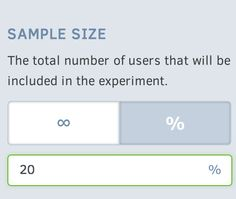Mobile A/B Testing Sample Size in the Splitforce Dashboard