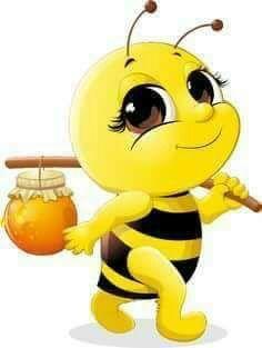 Cute bee with honey Jar vector 02 Cartoon Bee, Cartoon Pics, Cute Cartoon, Cartoon Characters, Honey Bee Cartoon, Happy Cartoon, Fictional Characters, Bee Pictures, Cute Bee