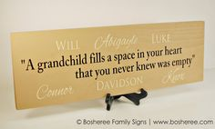 Personalized Family Name Sign Grandparent Quote Sign with names- Perfect Gift Idea - ETS-23 on Etsy, $37.01 CAD