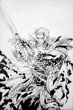 Soul Saga Collected Edition Cover, in Scott A's Stephen Platt Comic Art Gallery Room Comic Books Art, Comic Art, Soul Saga, Rob Liefeld, Splash Page, Black White Art, Art Archive, Image Comics, Large Art