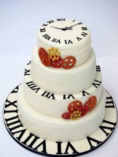 Clock / time wedding cake