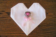 Heart-Shaped Napkin Fold Tutorial | Paths of Wrighteousness