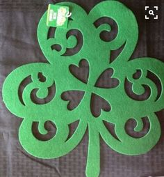 "BACK IN STOCK $3.98 ea. Felt Shamrock 16.5""x16"": St. Patricks Decorations Placemats Wreaths DecoMesh #Unbranded"