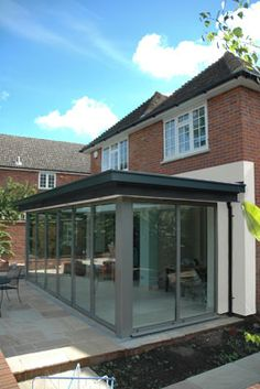 Jane Duncan Architects in Amersham - Smaller Projects - Chalfont St Giles - Rear Extension Conservatory House, Side Return, Glass Room, Rear Extension, London House, Big Windows, House Extensions, Sunrooms, Home Reno