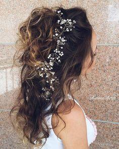 Ulyana Aster Romantic Long Bridal Wedding Hairstyles_18 ❤ See more: http://www.deerpearlflowers.com/romantic-bridal-wedding-hairstyles/