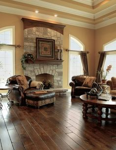 Best 10 Stunning Tuscan Living Room Designs : Astonishing Beige Tuscan Style Living Room Design with Wonderful Wooden Round Coffee Table and... by laverne