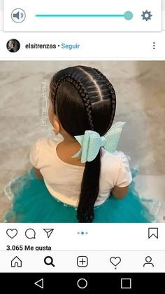 Girls Hairdos, Cute Little Girl Hairstyles, Girls Natural Hairstyles, Baby Girl Hairstyles, Kids Braided Hairstyles, Braided Prom Hair, Braids For Long Hair, Jasmine Hair, Toddler Hair