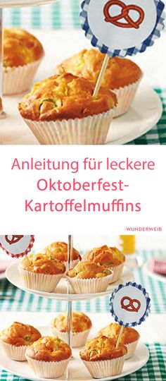 Oktoberfest Rezepte von Kathls Backstum Obazda Cupcakes