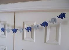 Garland - Navy Blue and Grey Elephant Garland - Cardstock Paper - Baby Shower… Baby Shower Favors, Baby Boy Shower, Baby Shower Decorations, Baby Shower Gifts, Room Decorations, Elephant Theme, Grey Elephant, Elephant Baby Showers, Navy Baby Showers