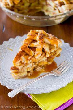 Salted Caramel Apple Pie. The holy grail of caramel apple desserts!.