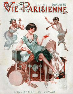 """""""La Vie Parisienne, Picture by Advertising Archives buy now as poster, art… Art Deco Illustration, Magazine Illustration, Retro Poster, Poster Vintage, Vintage Art, Art Deco Posters, Poster Prints, Cover Art, Cc Drawing"""