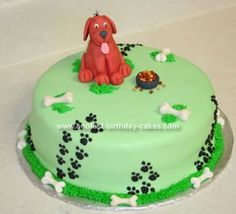 Homemade Clifford The Big Red Dog Cake: This is only my third cake I have ever made and I am very proud of it.  I made this Clifford The Big Red Dog Cake for my cousin's third Birthday Party.