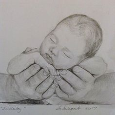 Drawing Pencil Portraits - Lullaby in graphite pencils Discover The Secrets Of Drawing Realistic Pencil Portraits Portrait Au Crayon, Pencil Portrait, Pencil Art Drawings, Art Drawings Sketches, Baby Drawing, Painting & Drawing, Mother And Child Drawing, Art Du Croquis, Inspiration Art