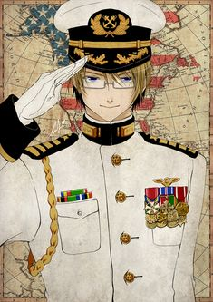 APH - Navy Captain USA by mandachan.deviantart.com on @deviantART - Companion piece to this: http://pinterest.com/pin/398076054534004401/