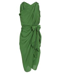 100% silk, drape slip-on dress. How convenient.