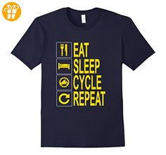 Eat Sleep Cycle Repeat T-shirt for Motorcycle Riders / Buffs Herren, Größe 2XL Navy (*Partner-Link)