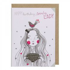 Lovely lady mini birthday card