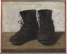 painting of gertrude jekyll gardening boots -- how I like to imagine Greta's